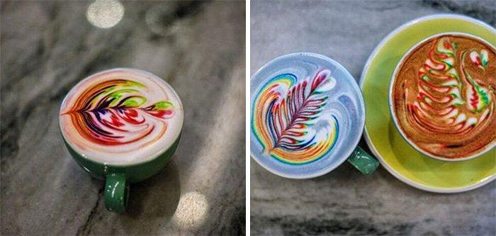 Разноцветный латте-арт от Мэйсона Солсбери
