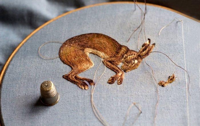 Крутые примеры креативной вышивки