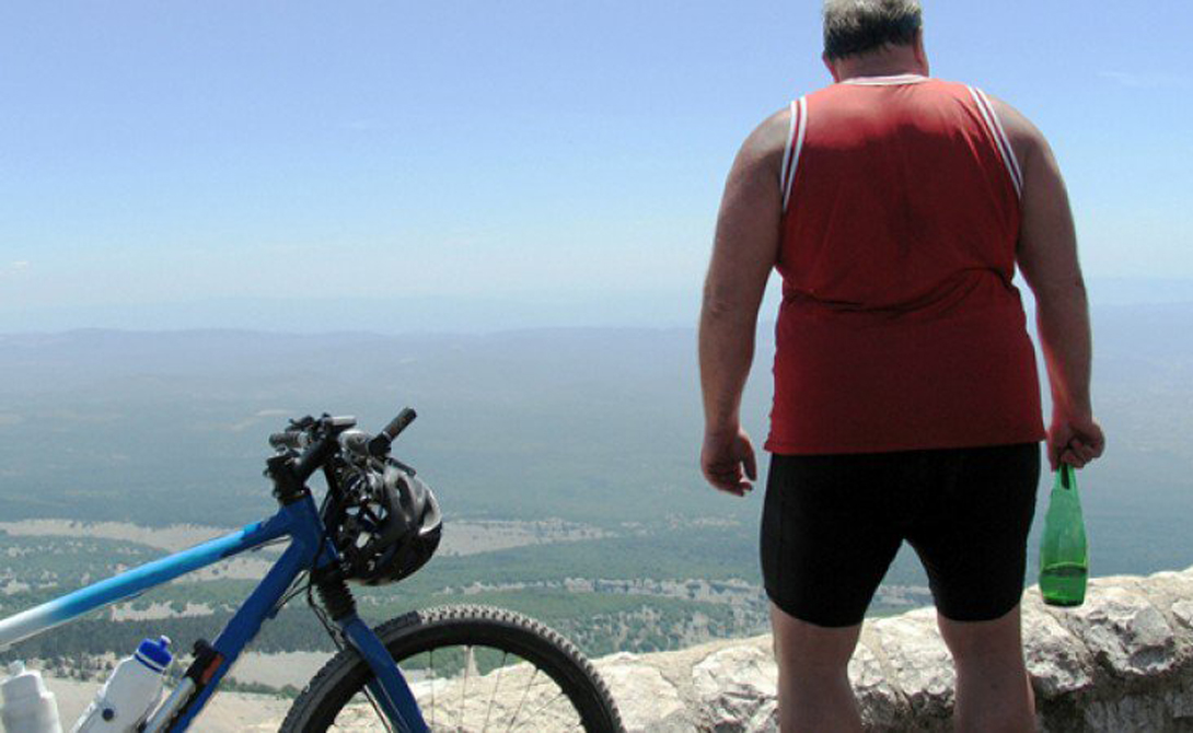 Как один мужик похудел на велосипеде