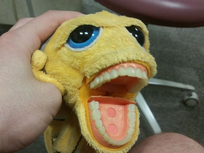 Зубастые игрушки для детей в кабинетах стоматологов
