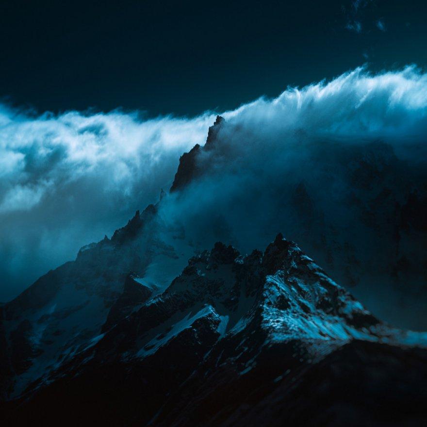 Инфракрасные снимки горных вершин от Энди Ли