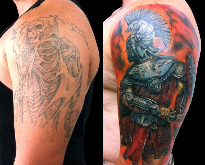 Исправление нежелательных татуировок