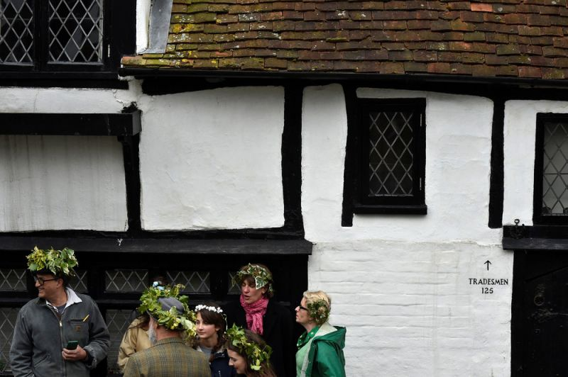 Традиционный парад Jack in the Green в Англии