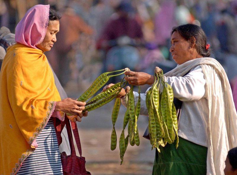 500-летний женский рынок в Индии