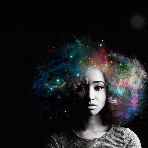 Целые галактики в афро-причёсках