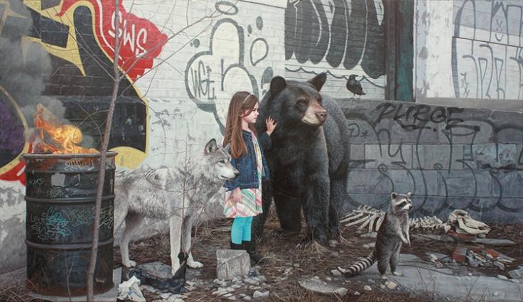 Одиночество, страх и сила на картинах от Кевина Питерсона