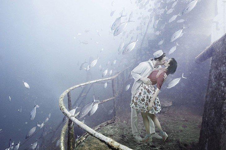 Подводный мир на затонувшем корабле от фотографа и дайвера Андреаса Франке