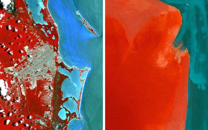 Фотографии Земли из космоса удивительно похожи на знаменитые картины