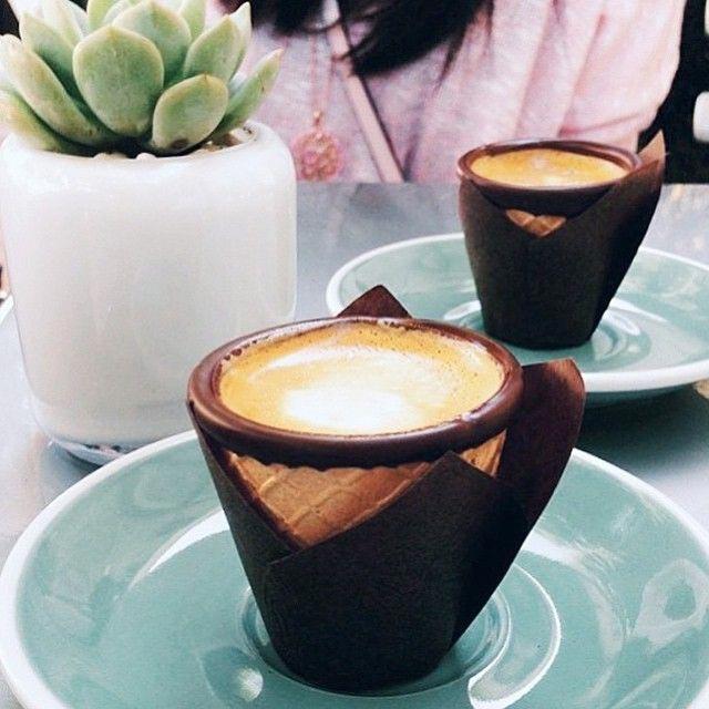 Новый кофейный тренд в Instagram: кофе в рожках