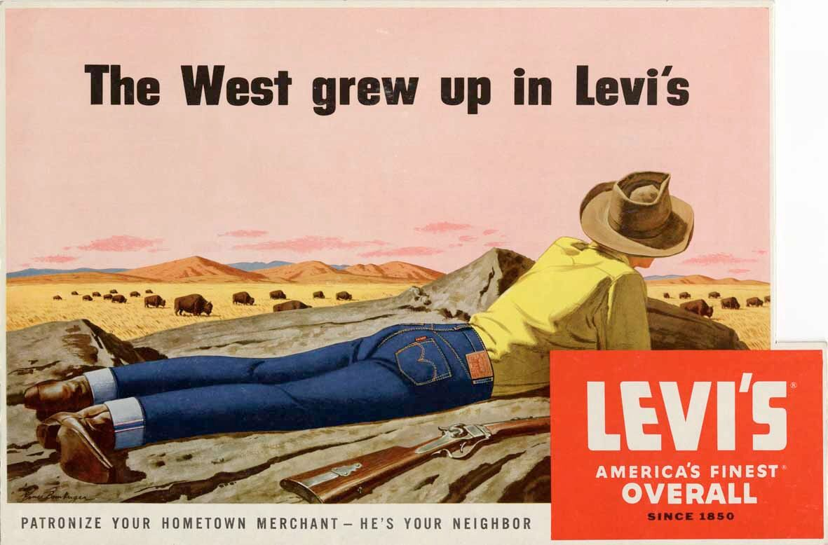 Винтажные постеры прошлого века от Levi's