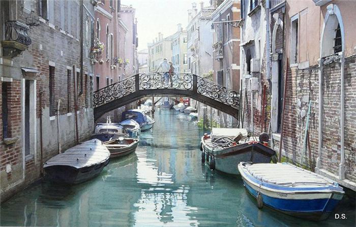 Очарование весенних городов: нежные акварели самых романтичных мест Европы