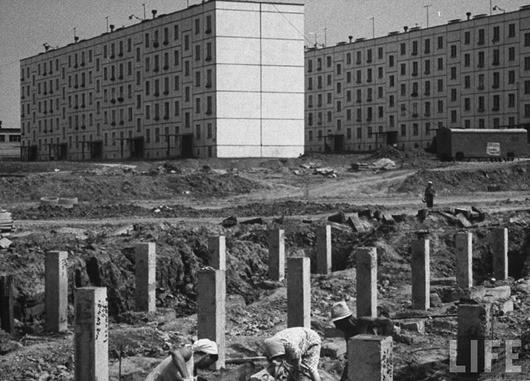 Как строили хрущевки в 1963 году