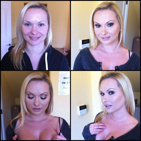 Порноактрисы и магия макияжа