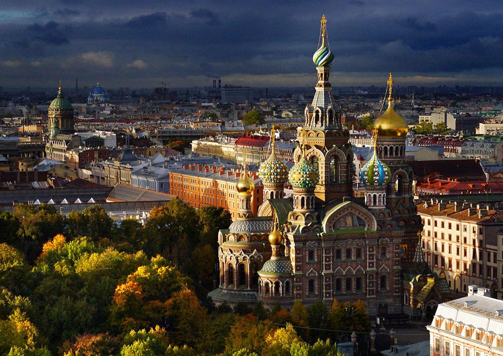 Санкт-Петербург — вид сверху