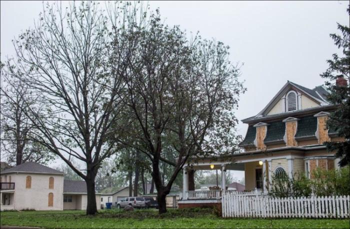 Ужасный град в городе Блэр, штат Небраска