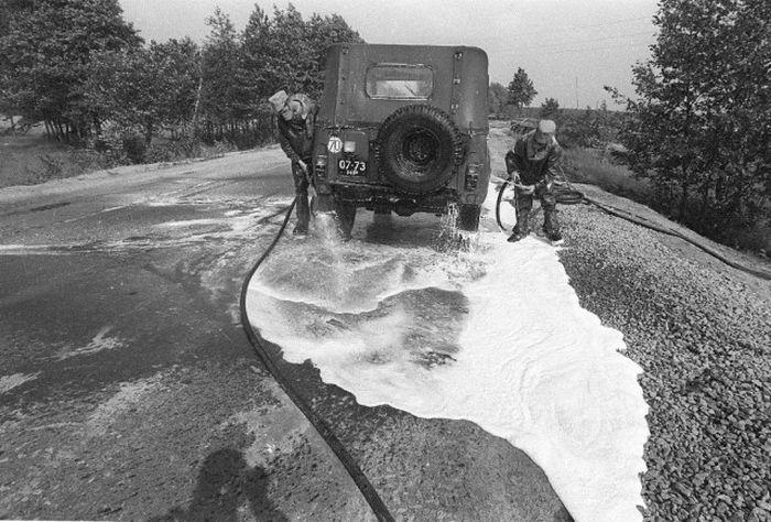 Зона отчуждения ЧАЭС в мае 1986 года