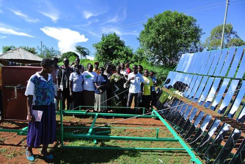 В Кении пекут хлеб и делают арахисовое масло с помощью солнечных концентраторов