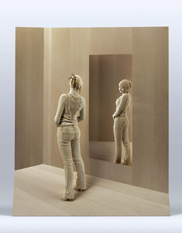 Невероятно реалистичные деревянные скульптуры людей