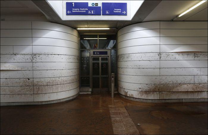 Последствия наводнений в Европе