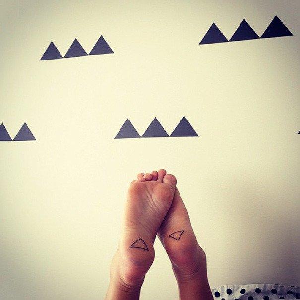 100 минималистичных татуировок