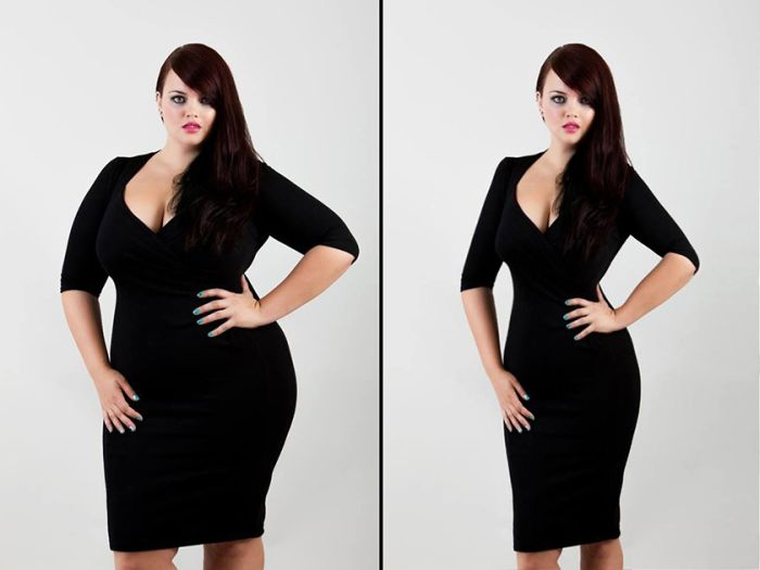 Активисты проекта Thinner Beauty отфотошопили моделей Plus Size
