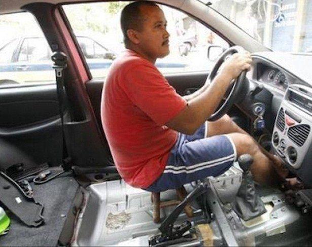Чего только не увидишь на дорогах: странные водители