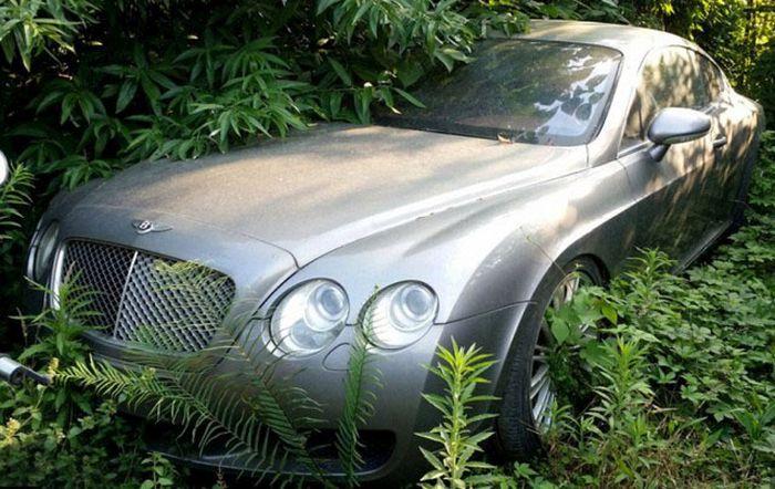 В Китае обнаружили свалку дорогих машин