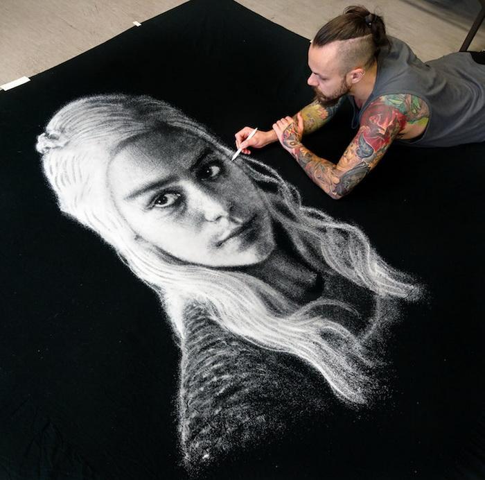 Фантастические рисунки солью