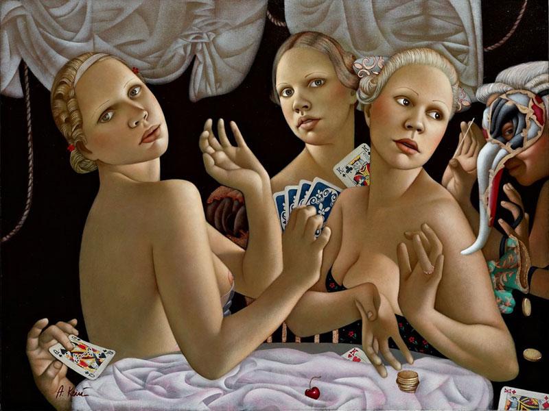 Картины Aгиты Кейpи, пропитанные гармонией и женственностью