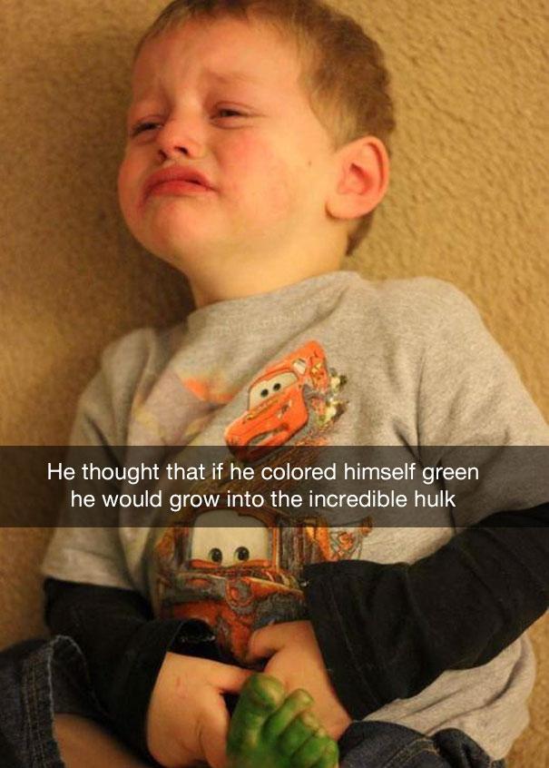 20 нелепых поводов, по которым плачут дети
