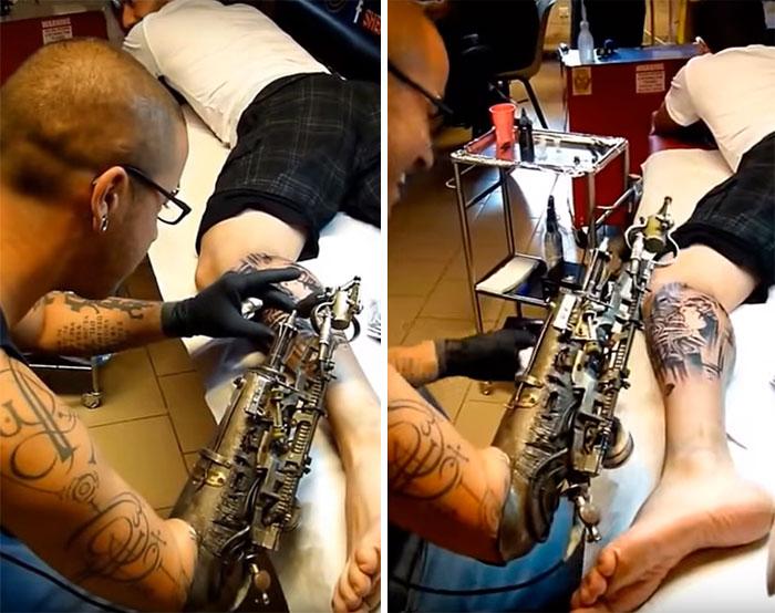 Первый в мире протез, способный наносить тату