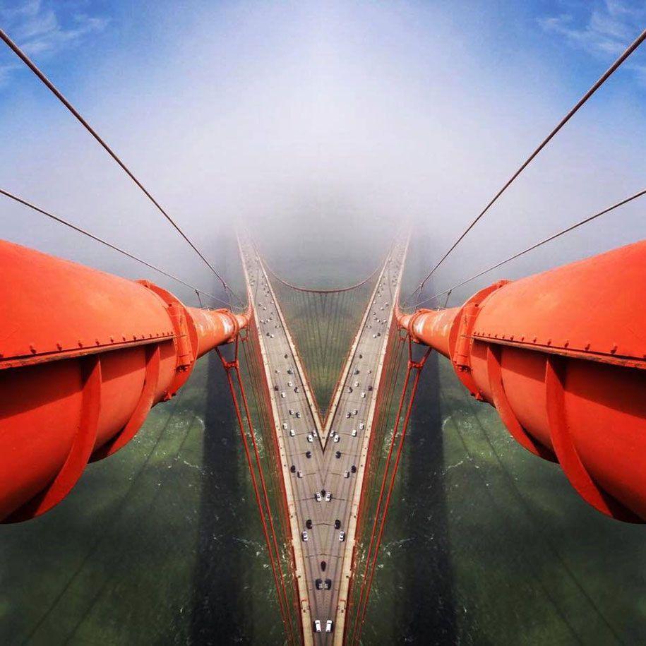 Фотографии с высоты моста Золотые Ворота