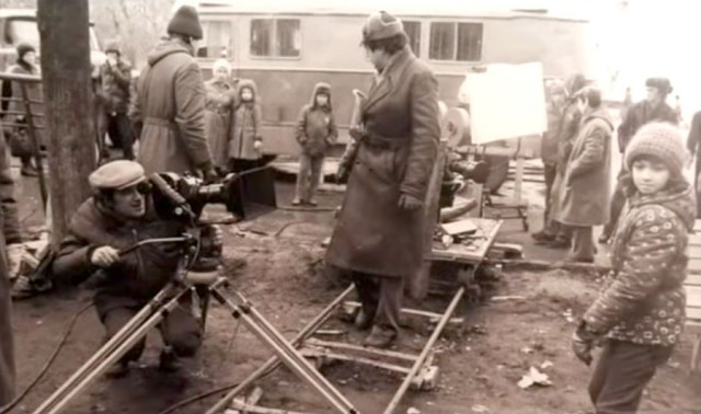 Редкие кадры со съемочных площадок советских фильмов