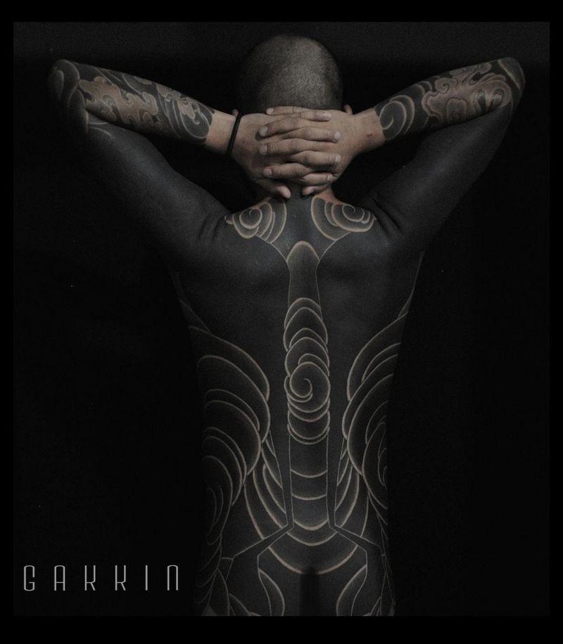 Татуировки на все тело от японского мастера