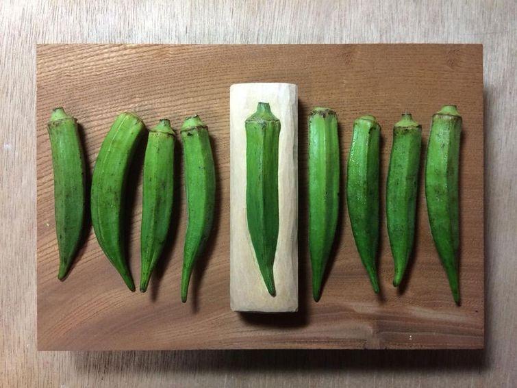 Деревянная еда от Сэйдзи Кавасаки