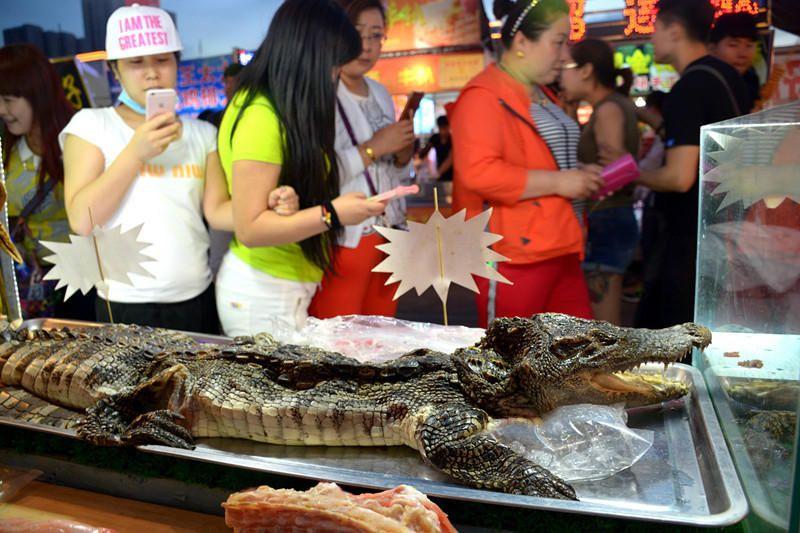 Кебаб из крокодила