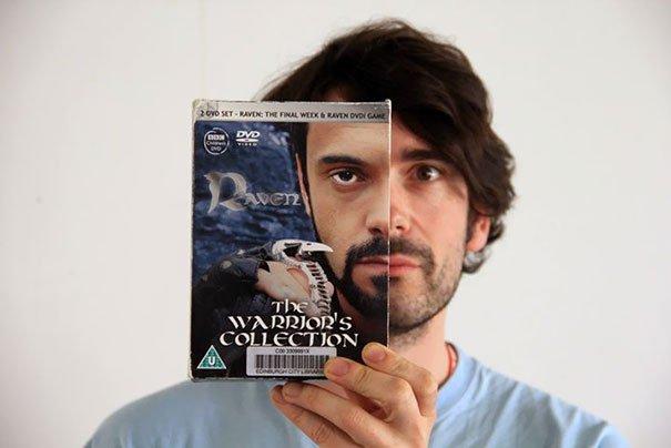 Забавные фотоиллюзии с обложками книг