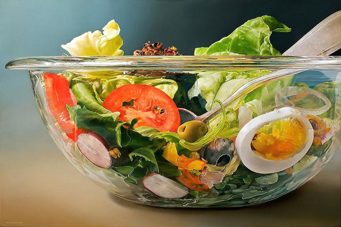 Гиперреалистические картины аппетитной еды