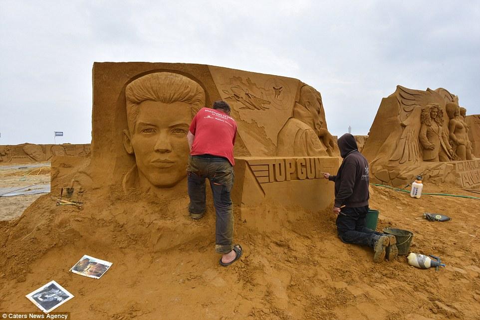 Фестиваль песчаных скульптур Sand Sculpture Festival в Остенде