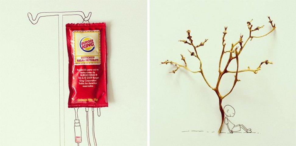 Настоящие произведения искусства из предметов обихода и еды