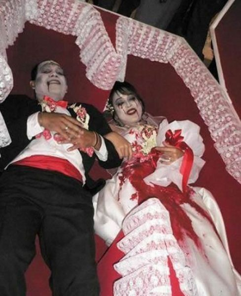 Забавные и необычные свадебные снимки