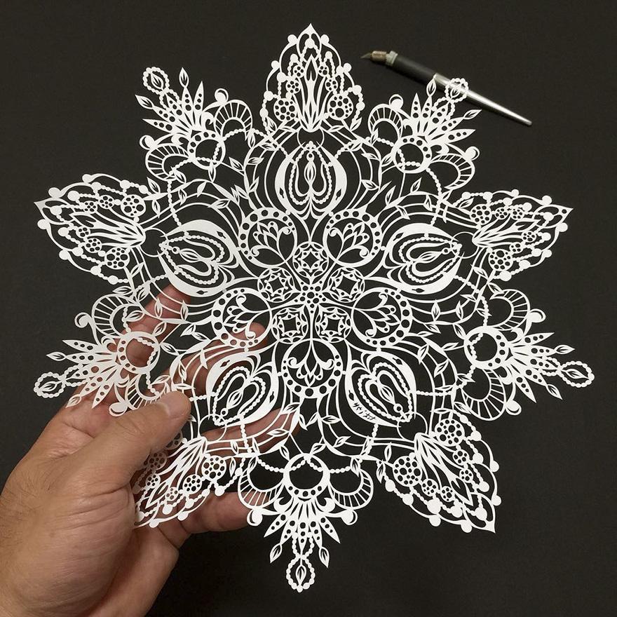 Бумажные кружева от японского мастера