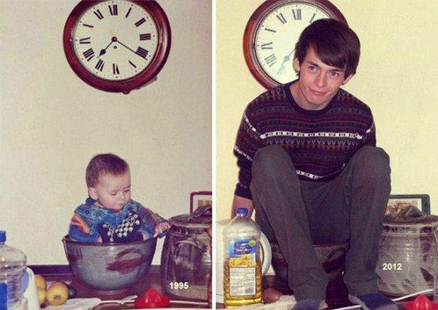Детские снимки в настоящем