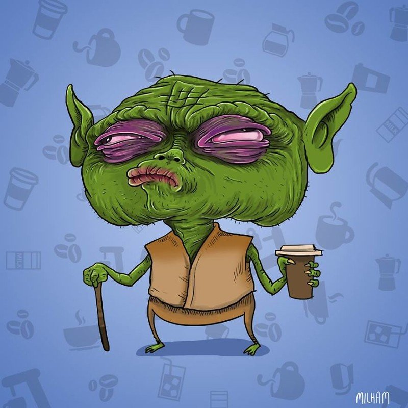 Герои мультфильмов до того, как выпьют свой утренний кофе