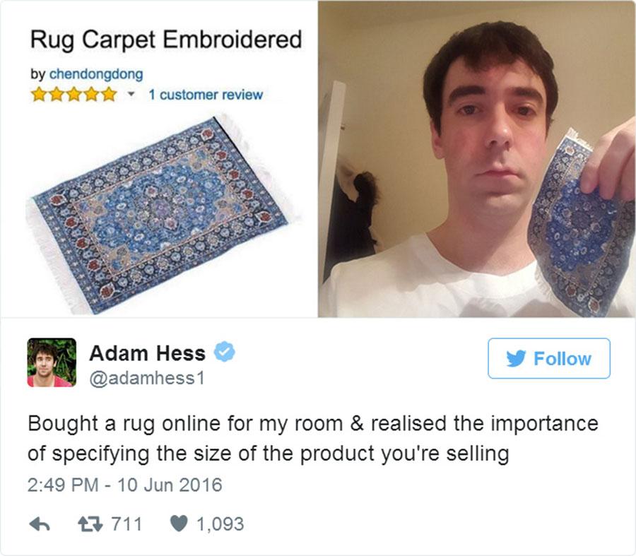 Неудачные покупки в интернете