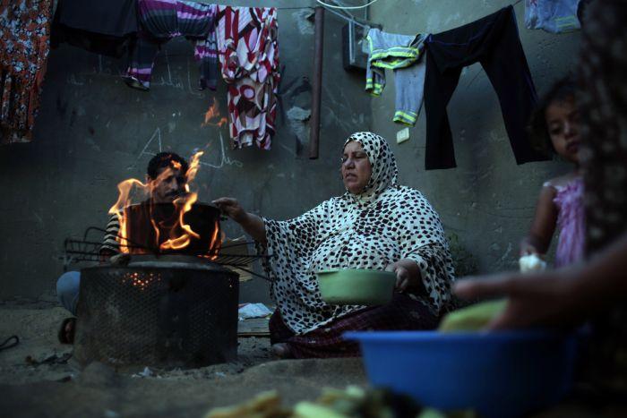 Трущобы беженцев в Секторе Газа