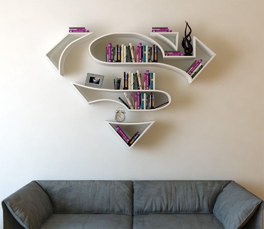 Супергеройские полки для книг от Бурака Догана