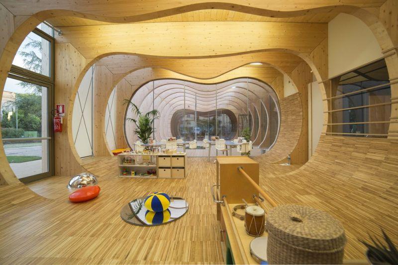 Экологичный детский сад в Италии