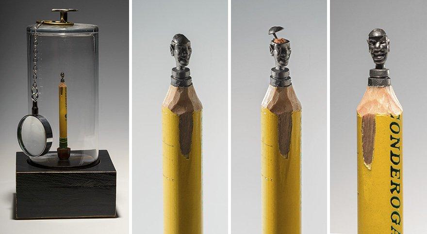 Крошечные графитовые скульптуры из карандашей от Синди Чинн