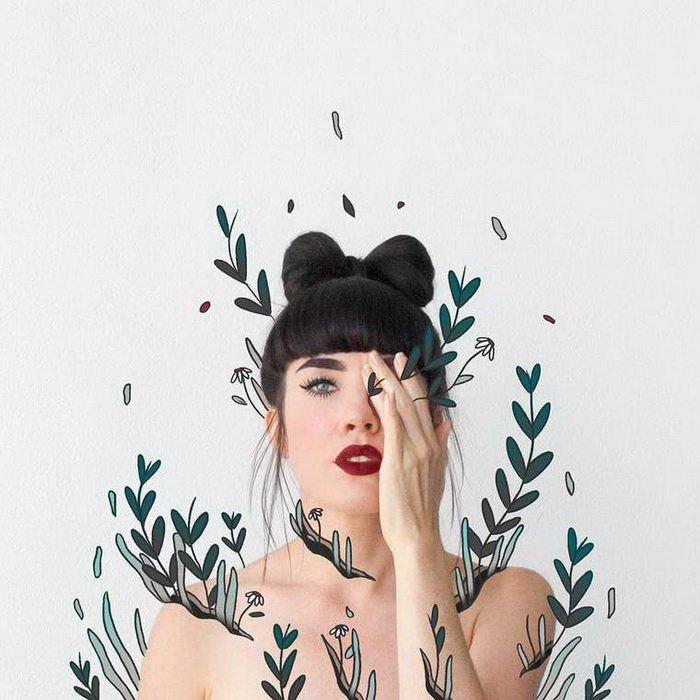 Мультяшные иллюстрации из фотографий от Лорен Карни